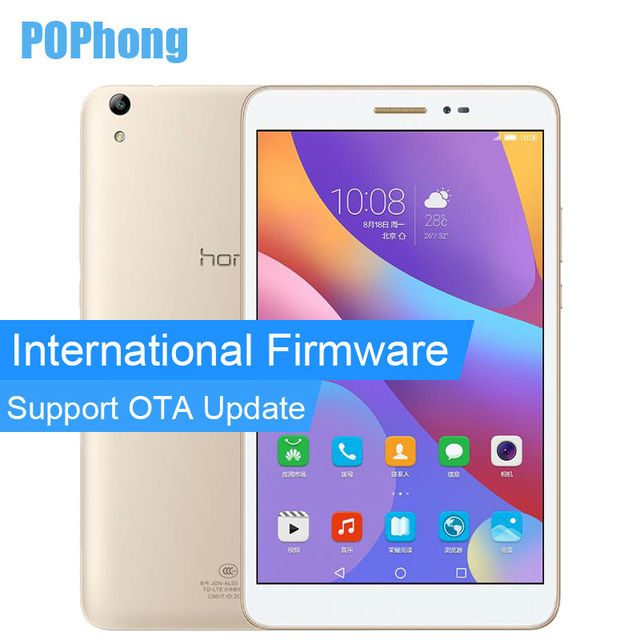 Международная прошивка Huawei Honor Tablet 2 Wi-Fi 3 ГБ оперативной памяти 32 г ROM 8 дюймов Tablet PC Snapdragon MSM8939 Octa core Android 6.0 GPS