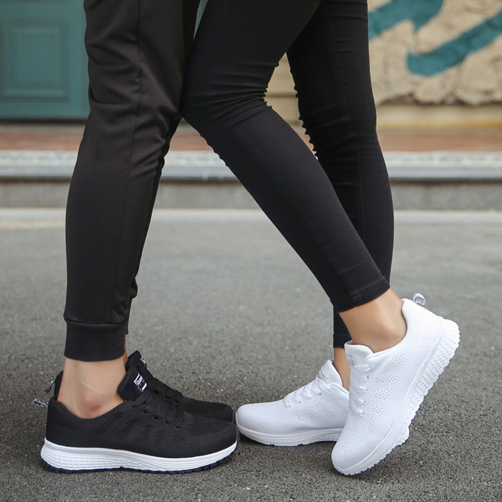 Comemore Sneakers Women Sport Shoes Lace-Up Beginner Rubber Fashion Mesh Round Cross Straps Flat Sneakers Running Shoes10.25Comemore Sneakers Women Sport Shoes Lace-Up Beginner Rubber Fashion Mesh Round Cross Straps Flat Sneakers Running Shoes10.25