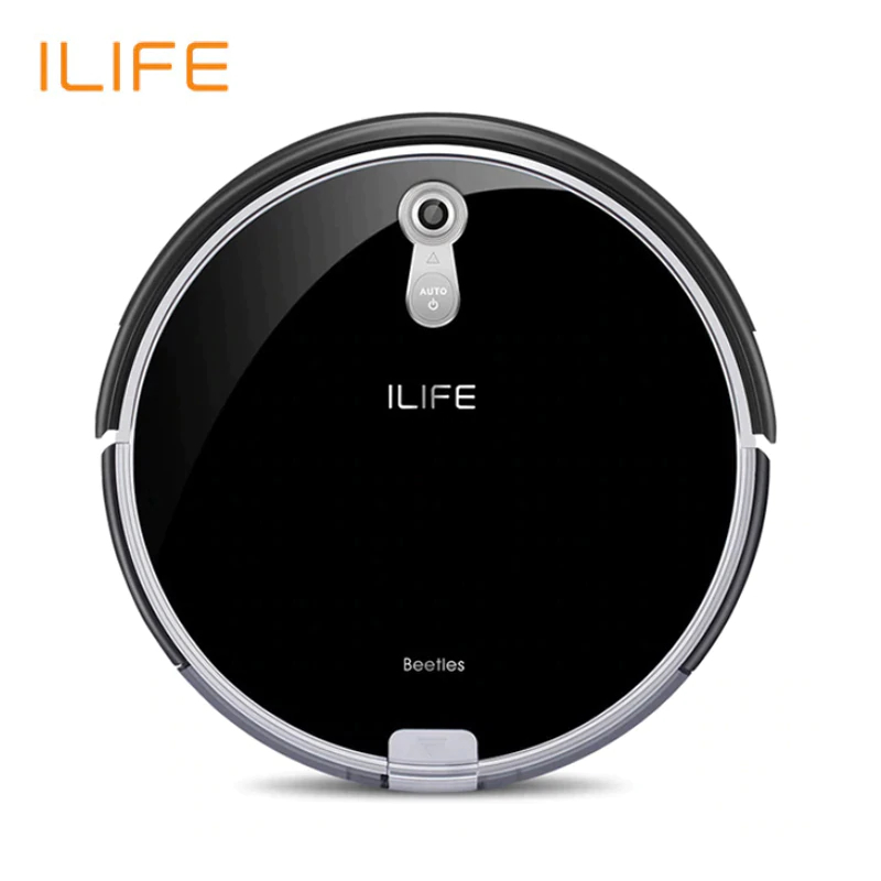 NEW Robotic Vacuum Cleaner ILife A8 For home with Camera Navigation Smart Robot Vacuum Cleaners Piano Black Color original right wheel for robot vacuum cleaner ilife a4s a4 robot vacuum cleaner parts ilife a4 including wheel motors