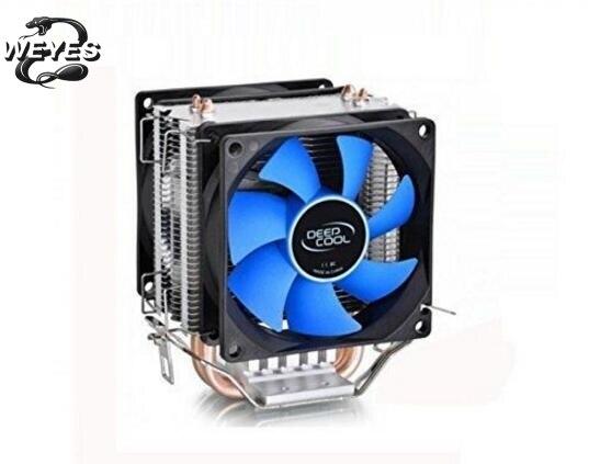 For LGA775/1156/1155, AMD FM2/AM2 2+/AM3 DeepCool 12cm Fan Quiet Cooler Heatsink red led three cpu cooler fan 4 copper pipe cooling fan aluminum heatsink for intel lga775 1156 1155 amd am2 am2 am3 ed