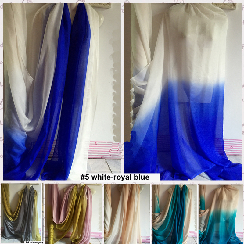 Mulberry Silk Chiffon Material Ombre Color Gradient Fabric