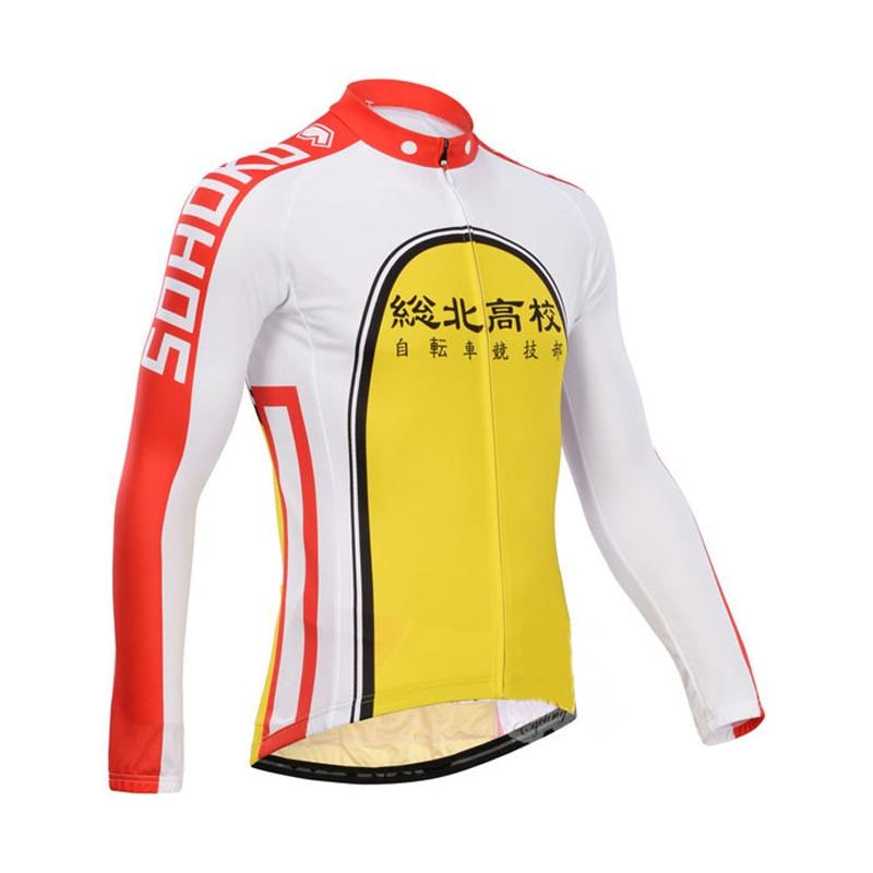 Yowamushi Pedal Mens Cycling Jerseys Motorcycle Motocross Racing Long Sleeve Sports Cycling Clothing Bicycle Wear Bike Clothing