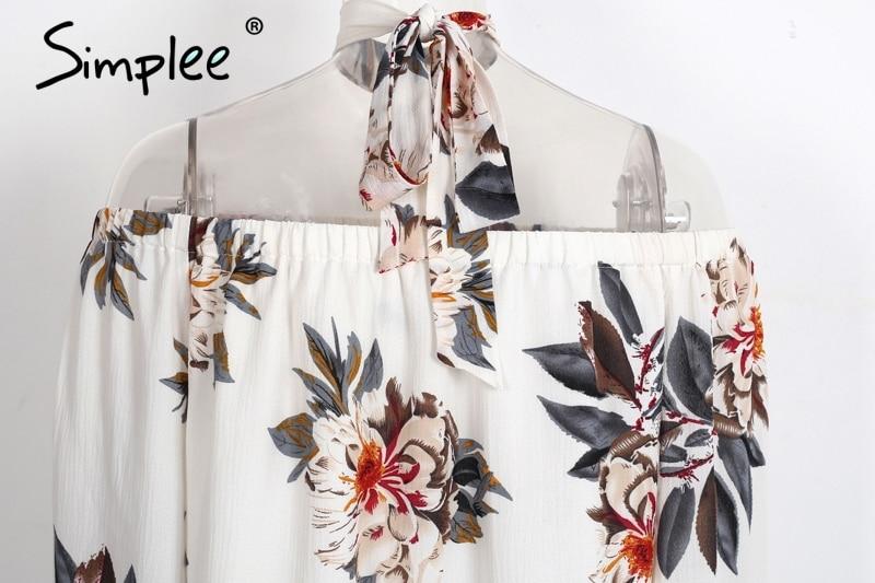 HTB1l67DPXXXXXaBXpXXq6xXFXXXl - Floral print off shoulder chiffon blouse Women tops halter cool