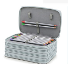 72 Holes Art Professional Canvas Roll Pencil Case Bag for Storage Pouch Painting Sketch Stationery School Gifts Writing Supplies(China)