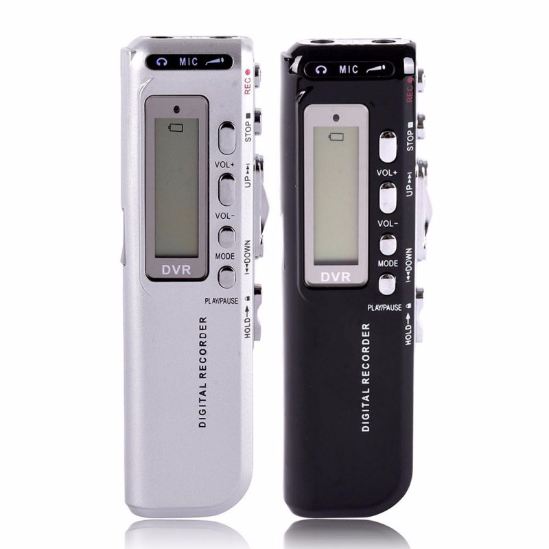 Hot sale 8GB High Quality USB VOR Rechargeable Digital Audio Voice Recorder 650Hr Dictaphone With MP3  Black color