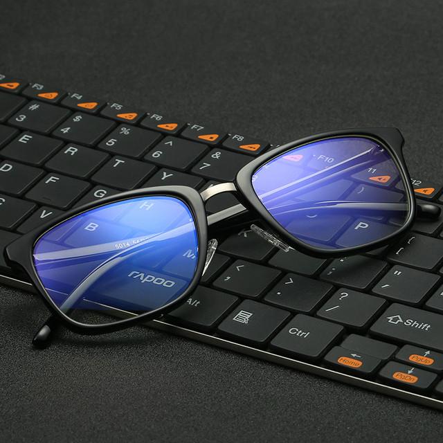 Novo anti luz azul lentes tr90 óculos full frame homens óculos de protecção contra as radiações computador oculos de grau feminino tg 5014