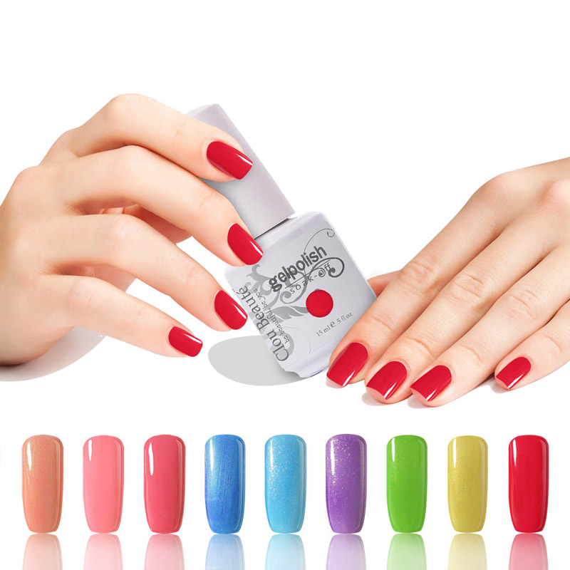 15 ml Clou Beaute Pilih 1 Warna UV Gel Kuku Rendam Off UV Gel Kuku Lampu Warna Gel Polish Lacquer Varnish
