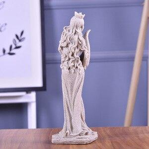 Image 3 - BUF 32 см песчаник белая богиня богатства Статуя смолы ремесло Домашняя Декоративная скульптура Европейский Простой декор украшения подарки