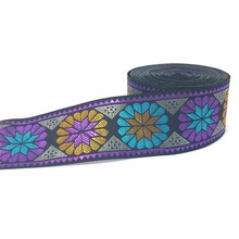 ZERZEEMOOY 40MM 9YARD/LOTS DIY handmade accessories national style embroidery lace colour flower woven jacquard ribbon