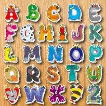아이들을위한 알파벳 냉장고 자석 기념품 냉장고에 만화 3d 동물 스티커 자기 문자와 숫자 스티커