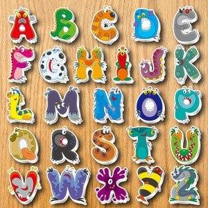 Image 1 - Alphabet réfrigérateur aimant Souvenir pour enfants dessin animé 3d animaux autocollants sur le réfrigérateur magnétique lettres et chiffres autocollants