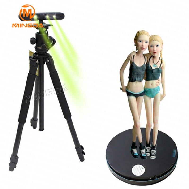 Scanner 3D haute résolution MINGDA avec plateau tournant Scanner corporel haute précision pour objets visage humain pour Studio Photo 3D