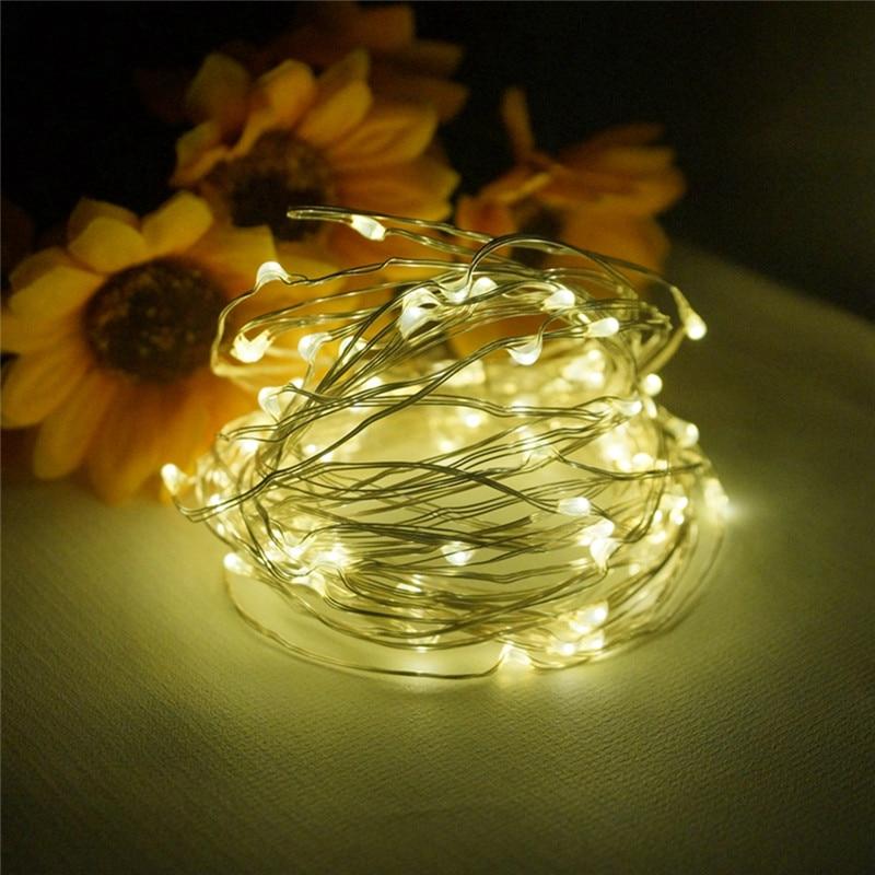 100Leds Decorative light post USB LED Copper Wire String Flexible Lights Christmas Festival Wedding Party 10M