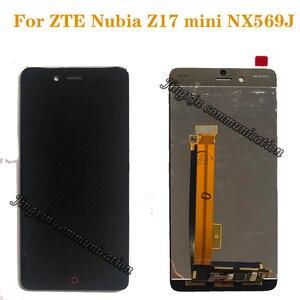 Image 1 - Новый ЖК дисплей для ZTE Nubia Z17 mini NX569J NX569H, ЖК дисплей + кодирующий преобразователь сенсорного экрана в сборе для nubia z17mini, запчасти для ЖК дисплея