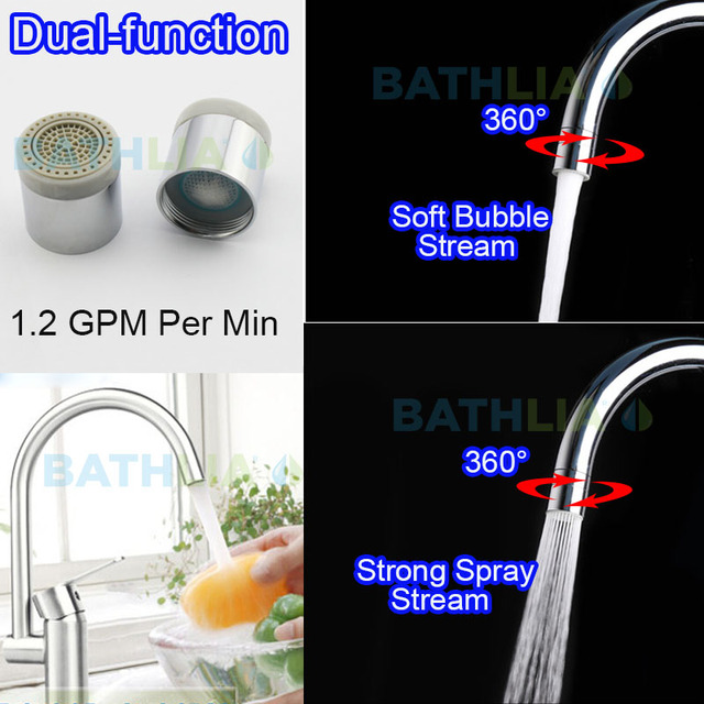 bathroom sink faucet aerator. 2 flow Water saving Aerator Nozzle Spray and bubble Stream Bathroom Sink  Faucet