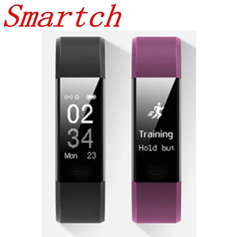 Smartch Originale ID115HR Più Frequenza Cardiaca Intelligente Della Vigilanza Della Fascia Inseguitore di Fitness Braccialetto Bluetooth Chiamata di Promemoria ID115 ID115 HR
