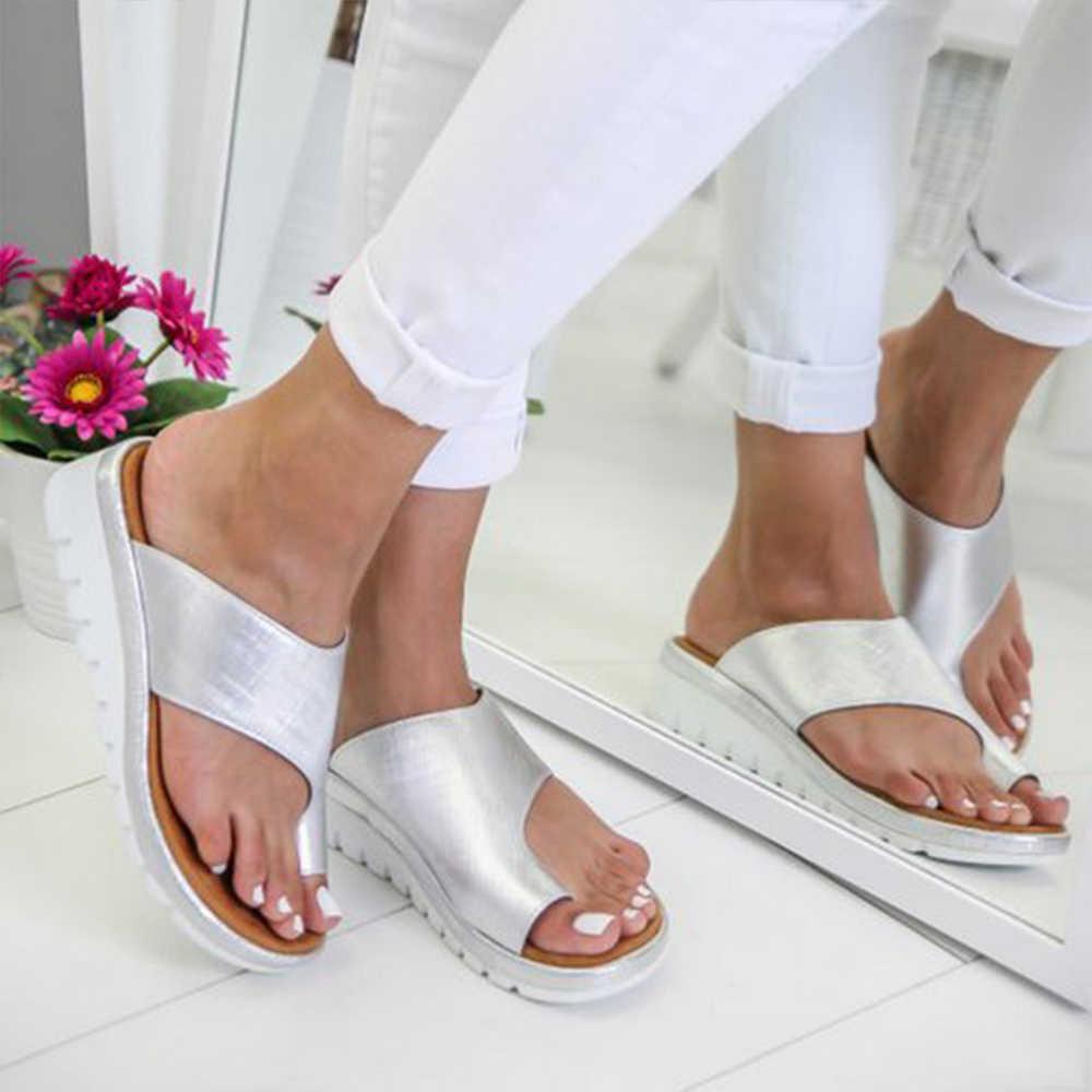 Wenyujh Nữ Dép Nữ Mùa Hè Phẳng Dép Xăng Đan Bé Gái Giày Đi Biển Thời Trang Nữ Casual Trơn Chanclas Mujer