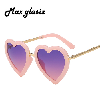 Children Kids Sunglasses Fashion Heart Shaped Cute UV400 Designer Frame Eyewear Baby Girls Sunglasses Sun Glasses