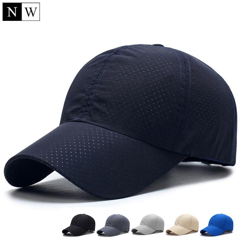 [NORTHWOOD] 2018 Solid Summer Baseball Cap Men Snapback Women Quick Dry Mesh Cap Breathable Sun Hat Bone Masculino Trucker Cap