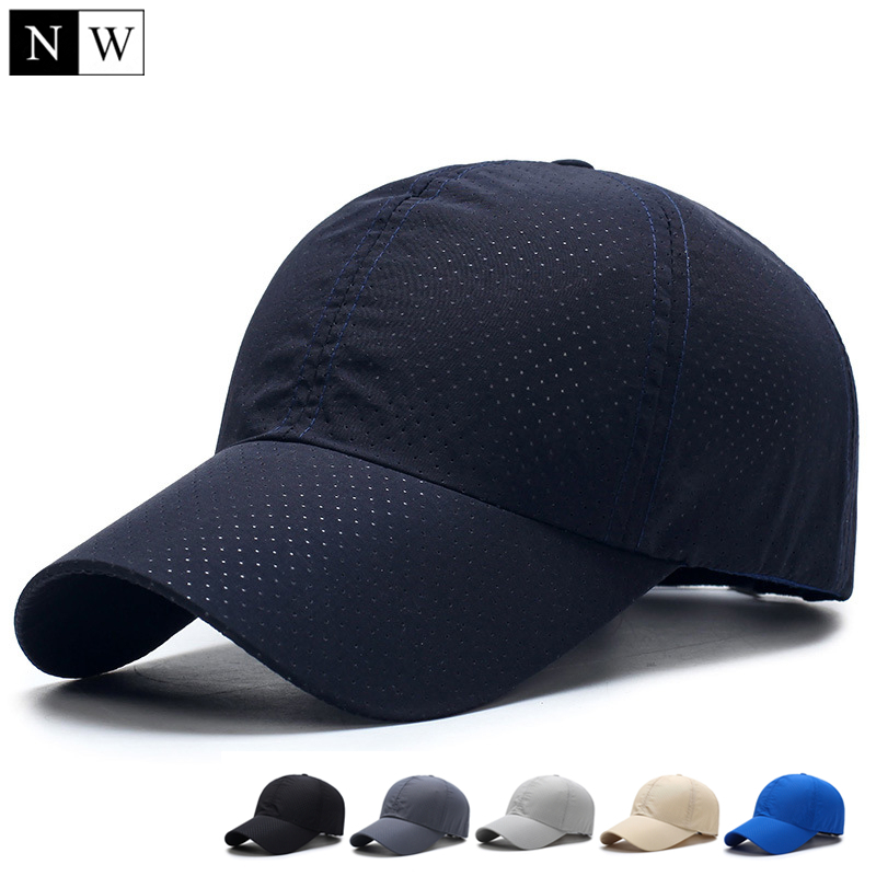 [NORTHWOOD] Brand Solid Summer Baseball Cap Men Snapback Women Quick Dry Mesh Cap Breathable Sun Hat Bone Masculino Trucker Cap