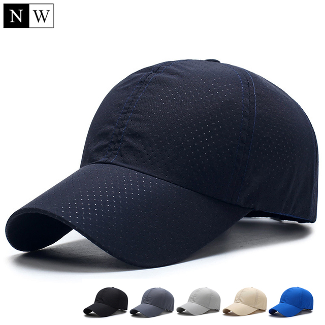NORTHWOOD 2018 Solid Summer Baseball Cap Men Snapback Women Quick Dry Mesh Cap Breathable Sun