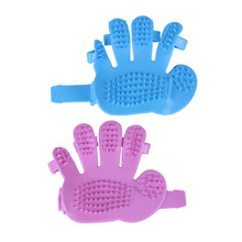 Pet Dog Bath Brush Groomer Comb Five Fingers Massage Hairbrush Rubber Glove Puppy Kitten brushes combs Grooming Tools for Doggy