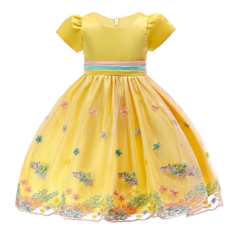 BOTEZAI baby   girl   embroidered princess   dress   for wedding party   flower     girl     dress   child   dress   young baby child Christmas
