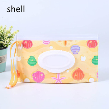 1Pcs24 * 14cm wipes bag Portable wet wipes box storage box tissue box napkin holder baby wipes Portable rope cover tissue box