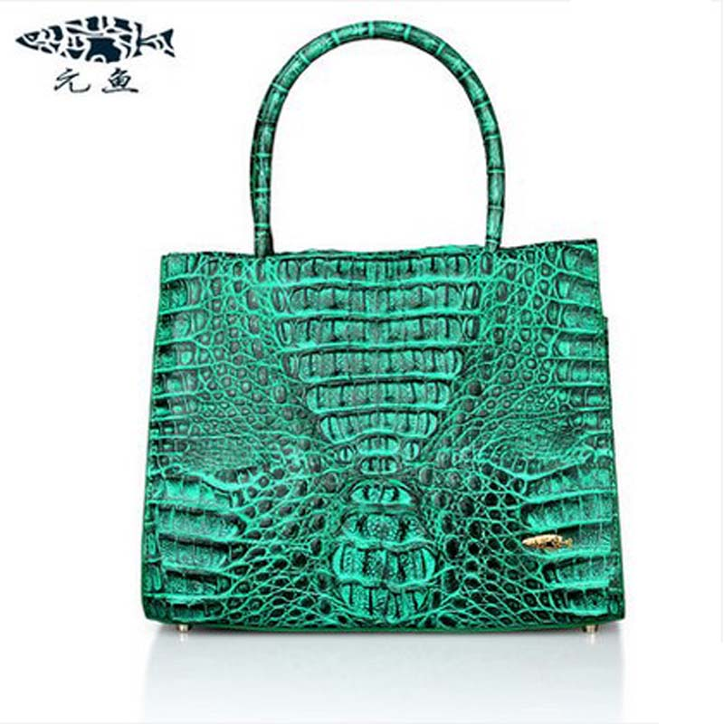 yuanyu real Thai crocodile women handbag new handbag real  leather bag leisure evening bag women bag yuanyu 2018 new hot free shipping real thai crocodile women handbag female bag lady one shoulder women bag female bag