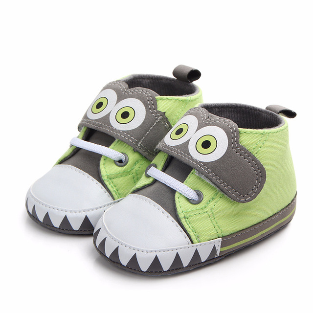 lovely animal baby canvas shoes  baby boy  prewalker shoe toddler kids shoes owl crib shoes for 0- 18 months babies