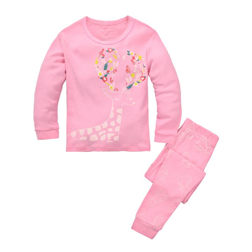 Long Sleeve Girls Pajamas for Kids Lovely Cartoon Baby ...