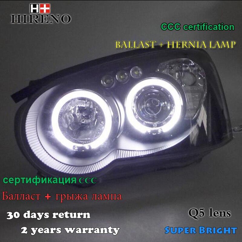 Hireno Headlamp for 2013-2015 Subaru Impreza Headlight Assembly LED DRL Angel Lens Double Beam HID Xenon 2pcs hireno headlamp for 2010 2012 kia sorento headlight assembly led drl angel lens double beam hid xenon 2pcs