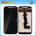 100% тестирование ЖК-Дисплей Для Motorola для MOTO E2 XT1527 XT1505 XT1524 XT1511 Сенсорным экраном Дигитайзер ассамблеи черный бесплатная доставка