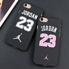 Fashion Flyman Michael Jordan 23 Chicago Hard Plastic Case For iphone 7 6 6s Plus Back Cover Air Jordan Slim Phone Case Skin