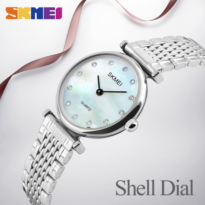 SKMEI New Fashion Women Quartz Klockor Casual Dress Girls Armbandsur - Damklockor - Foto 3