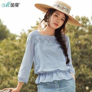 Image 1 - INMANฤดูใบไม้ผลิดอกไม้ออกแบบเสื้อผู้หญิงเสื้อผู้หญิงเสื้อผู้หญิง
