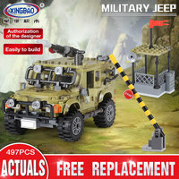Xingbao Army Series Military The Ryan Car Set 06012 Compatible LP Building Blocks Military Educational Toys For Children