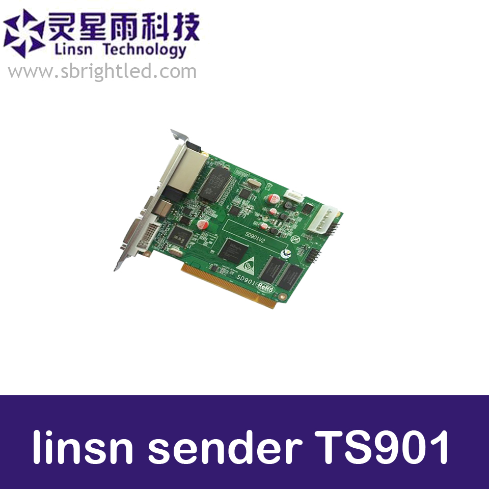 Linsn TS901 the newest sending card LINSN controller for LED video RGB full color display screen,run bigger pixel than TS802