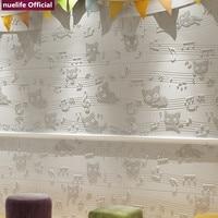3D cartoon note pattern soft pack wall study living room bedroom kids room cafe waterproof anti collision foam wall stickers