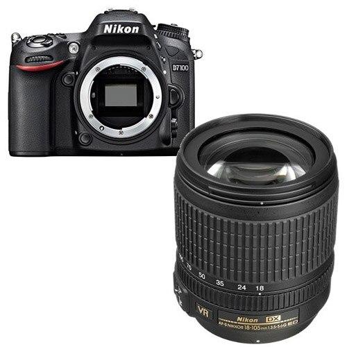 New Nikon D7100 24 1 MP DSLR Camera Nikkor AF S 18 105mm f 3 5