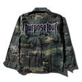 2017 spring new men jacket purpose tour Men Retro Unisex Long Sleeve Military Jacket Winter Hip Hop jumper Coat Kanye West  camo
