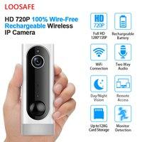 LOOSAFE Smart Battery camera 1080P HD IP Camera Wireless Wifi Indoor Security Camera Home Surveillance System Motion Alarm