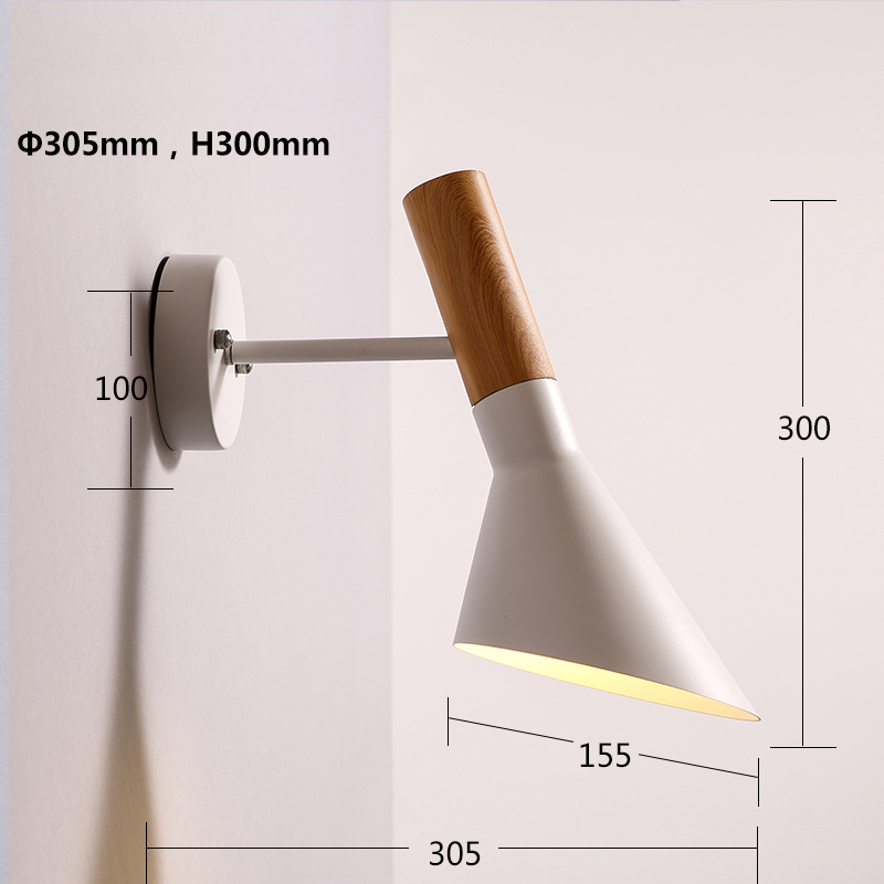 DX sconces wood wall lamp indoor lighting bedside wall light fixture wall lights for home creative modern wall sconce