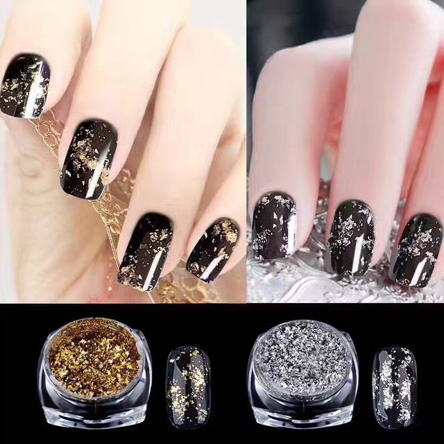 2017 new gold silver micro nail art foil glitter sequins pigment 2017 new gold silver micro nail art foil glitter sequins pigment powder nail charms manicure chrome prinsesfo Images