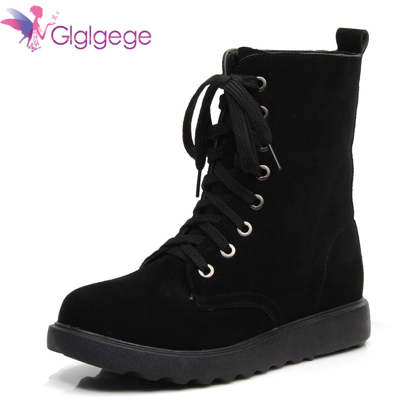 Glglgege 2018 Lace-Up Winter Booties Scrub Leather Fashion Plush Ankle Boots Casual Genuine Leather BootsGlglgege 2018 Lace-Up Winter Booties Scrub Leather Fashion Plush Ankle Boots Casual Genuine Leather Boots