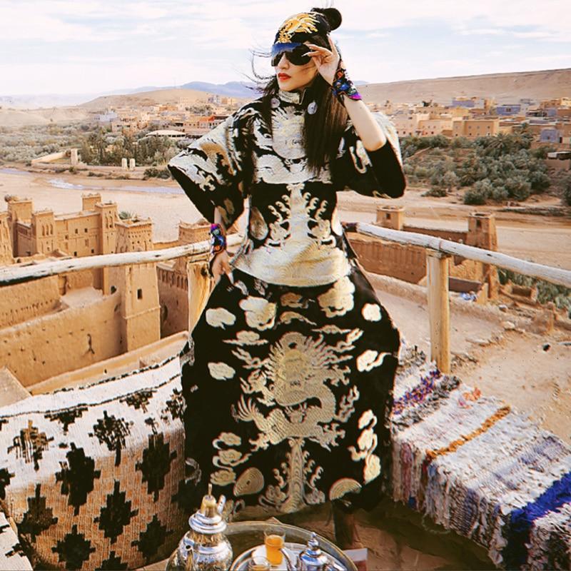 Col Chemise Costume Occasionnel Femelle women Pant Coton Top Style Pcs Chinois Ensemble Women Spéciale Offre Banquet Tang Femmes women Dragon 2 Vintage Suit Mandarin Pantalon Vêtements 8nOqCTaY