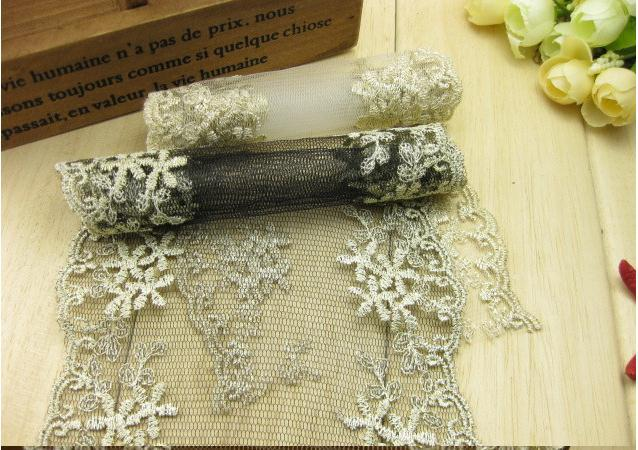 lace fabric 30yards lot 13cm exquisite gold thread guipure lace fabric headband hair bow gift packing