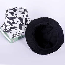 08b0d03703929 2019 Cow print Bucket Hat Fisherman Hat outdoor travel hat Sun Cap Hats for  Men and