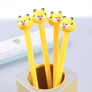 100 pcs creative cartoon Garfield cat neutral pen cute student black water pen quality office signature pen wholesale