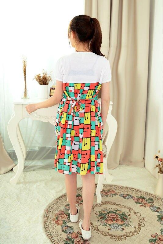 Summer cotton contrast color pregnant woman\'s gown Maternity Dresses ...